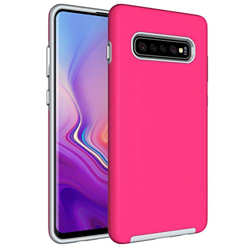 NOMO Galaxy S10 Case,Samsung S10 Hybrid Defender Armor Case,Dual Layer Protective Phone Case,Full Body Rugged Case,Non-Slip Drop Protection Shock Proof Case for Samsung Galaxy S10 Hot Pink by NOMO