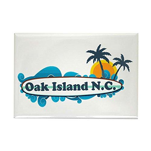 CafePress Oak Island NC - Surf Design Rectangle Magnet, 2