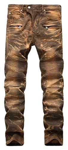 Taglie Di Pantaloni Fashion Jeans Svago Skinny Hren Uomo Abiti Elasticizzati Denim Moto Motociclista 6501gelb Comode Sottili Hx Dei d7YFqwvxY