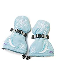 Veyo Kids - Snow Princess Mittyz - Waterproof Kids Mittens | Toddler Gloves | Easy on, Stay on, | Perfect for Snow Skiing, Sledding, and Winter Play