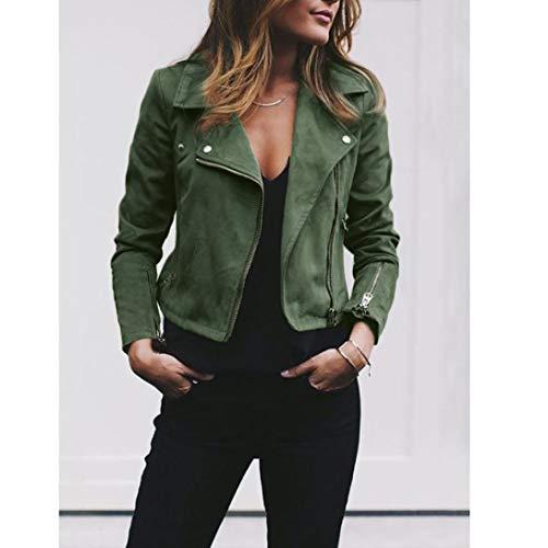 Rétro Slim Casual Blouson Adeshop Paragraphe Automne Mode Vert Court Couleur Up Manteau Femmes Et Veste Tops Rivet Pure Outwear Vêtements Hiver Manteau Zipper zzAR8xfn