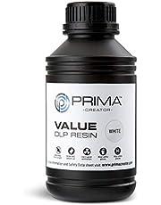 PrimaCreator Value - Resina UV/DLP (500 ml/1000 ml), 500 ML, blanco, 1