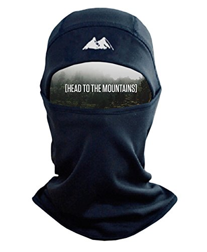 (Mountain Made Balaclava Thermal Polyester Fleece Face Mask, Black, One)