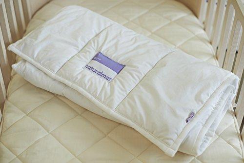 "Naturalmat Organic Wool Comforter, Cream, 53"" x 39"""