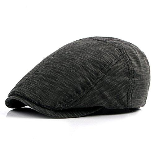Cotton Beret Hat Casual Solid Newsboy Caps