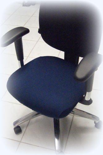Funda para silla de oficina - Husse para silla de oficina giratoria 44 x 44 cm, color azul