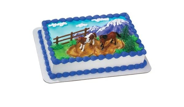 Terrific Amazon Com Horses Cake Kit Kitchen Dining Funny Birthday Cards Online Alyptdamsfinfo