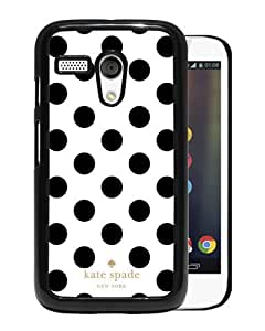 Hot Sale Motorola Moto G Case ,Kate Spade 293 Black Motorola Moto G Cover Case Unique Popular Designed Phone Case