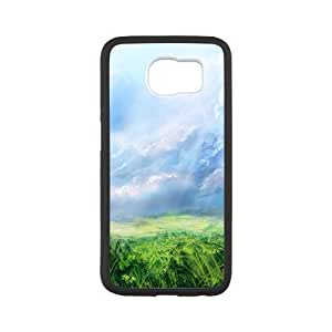 Hand Painted Meadow6 Samsung Galaxy S6 Case, Men Design Case Hard Case for Samsung Galaxy S6 Pharrel {White}