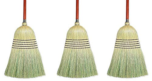 Wilen E502036, Warehouse Corn Blend Broom with 1-1/8'' Handle, 32# Size, 56'' Length (Case of 6) (3-(Pack))