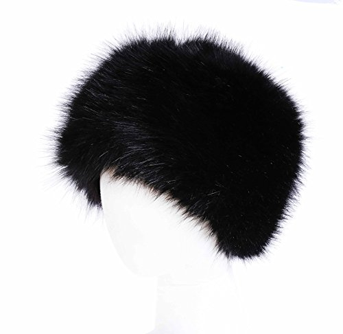 Soul Young Women's Winter Faux Fur Cossak Russian Style Hat(one size,Black)