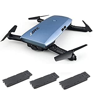Southey JJRC H47 Elfie Foldable Selfie Mini Drone FPV Quadcopter & Two Extra Battery (Blue)