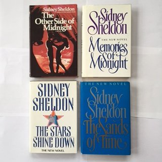Sidney Sheldon Set of 4 (The Other Side of Midnight, Memories of Midnight, The Stars Shine Down, The Sands of Time) by Sidney Sheldon