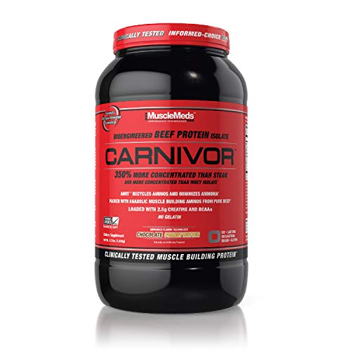 MuscleMeds Carnivor Beef Protein Isolate Powder, Chocolate Peanut Butter, 2.2 Pound