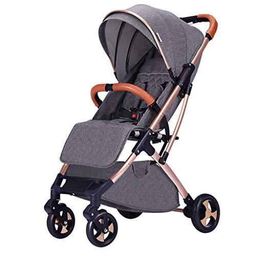DGDG Baby Stroller, Can Sit Reclining, Ultra Light Portable Folding Four Wheel Shock Absorber Baby Umbrella Newborn Baby Stroller