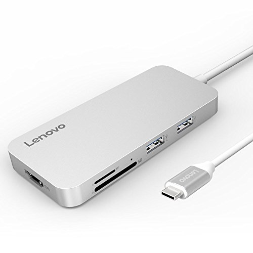 Lenovo USB C Hub, Type C Hub Adapter 3.1 with USB C Charging