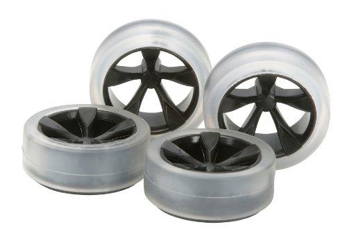 ソフトローハイトタイヤ&カーボン強化ホイールセット(5本スポーク) 「ミニ四駆限定」 [94896]の商品画像
