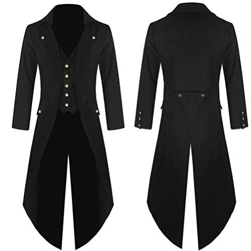 Mitlfuny Herren Langarm Frack Steampunk Gothic Jacke Vintage