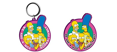 Simpson Family Soft PVC Keychain and Magnet Set