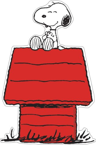 Eureka Peanuts 5-Inch Paper Cut-Outs, Snoopy on Dog House, Package of 36 (841227)