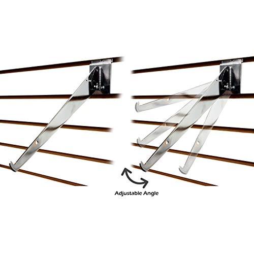 Chrome Adjustable Angle Slatwall Shelf Bracket 14