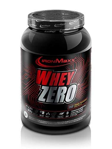 IronMaxx Whey Zero Protein – 908g Pulver – 18 Portionen – Maracuja – Molkenprotein mit 97 % Whey Anteil – Zuckerfreies…