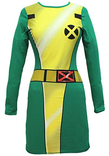 Marvel Comics X-Men I Am Rogue Juniors Bodycon Cosplay Costume Dress (Rogue Marvel Costumes)