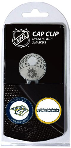Team Golf NHL Nashville Predators Golf Cap Clip with 2 Removable Double-Sided Enamel Magnetic Ball Markers, Attaches Easily to Hats