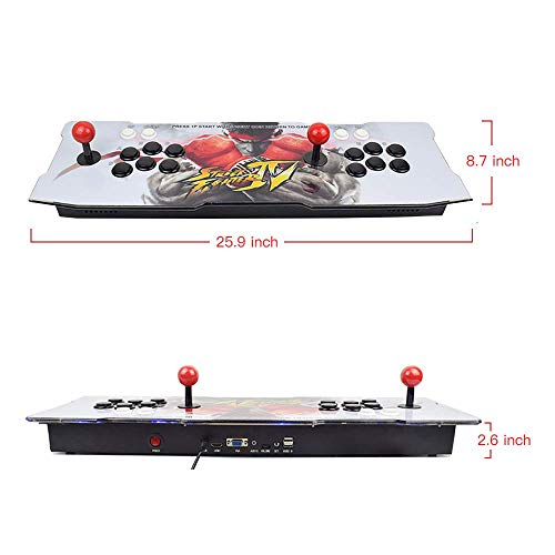 Arcade Game Console 1080P 3D & 2D Games 2350 in 1 King of Fighters Pandora's Box 3D 2 Players Arcade Machine with Arcade Joystick Support Expand 6000+ Games for PC / Laptop / TV / PS4 by MeetingU (Image #6)