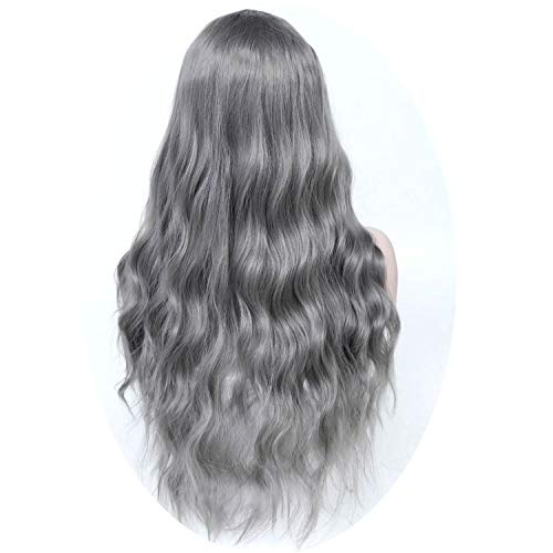 Long Brown Hair Wigs African American Kinky Curly Wigs For Women Heat Resistant Synthetic,Silver ()