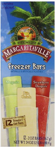 Margaritaville Freezer Bars, 12 Count (Pack of 8) (Margarita Popsicle Recipe)