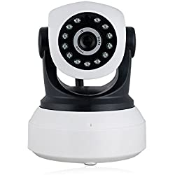 Phiseco Wireless Camera Baby Monitor IP Camera WiFi Surveillance Camera HD 720P Nanny Cam with Pan Tilt Motion Detection Two Way Audio and Night Vision for Home Security System