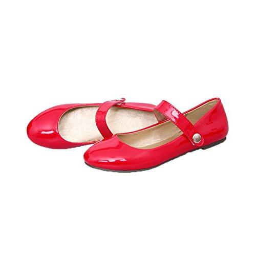 Ballet Maiale Tacco Donna di Puro Rosso 32 Moolarmi Punta Pelle Basso Tonda Flats WfHzBBx