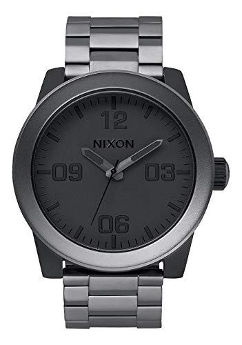 Nixon Corporal SS A3461062-00. Matte Gunmetal & Black Men's Watch (48mm Matte Gunmetal and Black Watch Face. 24mm Gunmetal Band)