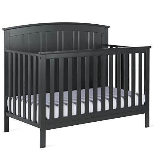 Baby Relax Colton 5-in-1 Convertible Crib, Slate Gray (Delta 5 In One Crib And Bed)