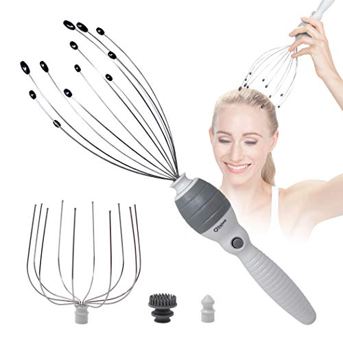 Daiwa Felicity 5-in-1 Electric Vibrating Head Scalp Massager Set [Updated 2019] (Best Hair Relaxer 2019)