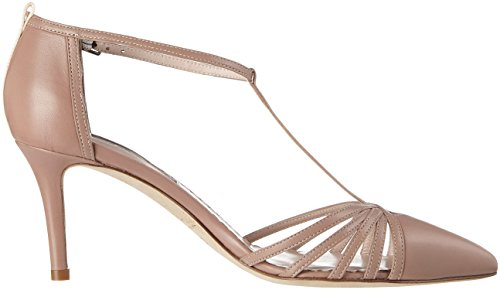 SJP by Sarah Jessica Parker Women's Carrie 70 T-Bar Pumps Brown (Sneak Nappa) e3aU7Xtw