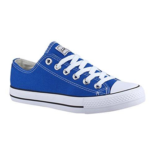 pretty nice 7b247 faad4 Para Elara London De Sintético Mujer Zapatillas Blau Material wnxOaqT86