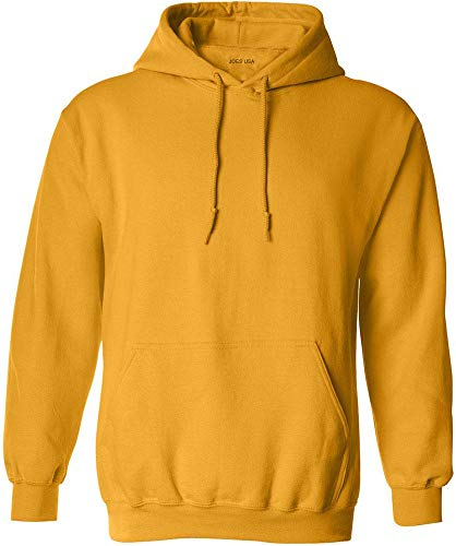 Light Orange Green Yellow - Joe's USA - Big Mens Size Two Extra Large Hoodie Sweatshirts-2XL in Gold