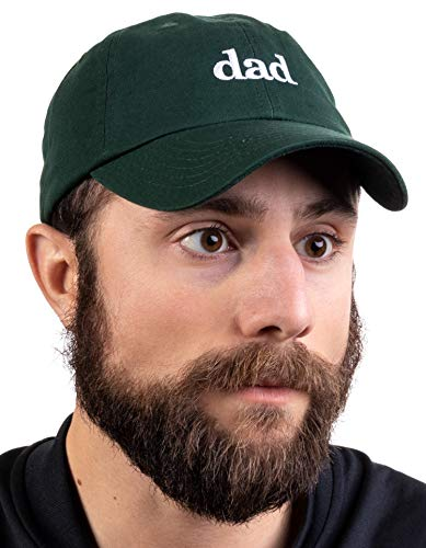 Ann Arbor T-shirt Co. Dad Hat | Funny Embroidered Baseball Cap Gift for Men Daddy Husband Father Joke - Forest Green