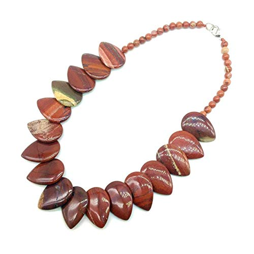 Natural Beads Choker | Necklace | Drop Beads Pendants | Party Gift (red Jasper)