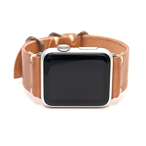 Apple Watch Strap: Natural Horween Shell Cordovan Band- by E3 Supply Co by E3 SUPPLY CO
