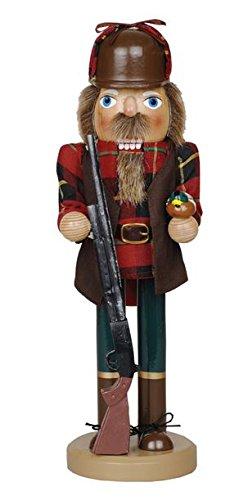 Santa's Workshop Duck Hunter with Gun Wooden Christmas Nutcracker 14 Inch Hunting Decoration New