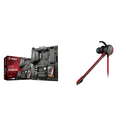 MSI Z370 GAMING M5 - Placa base Enthusiast (chipset Intel Z370, socket LGA 1151, 6 x SATA 6Gb/s) + MSI - Auriculares con micrófono: Amazon.es: Informática