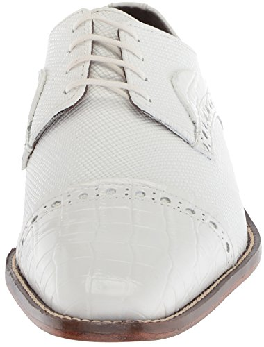 Stacy Adams Mens Rodrigo Cap Toe Oxford Blanc