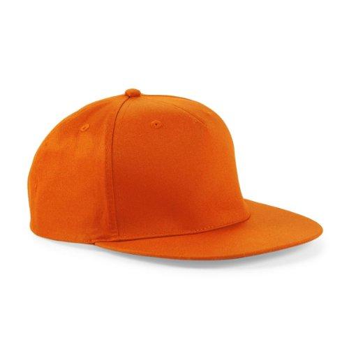 Beechfield gorra de rapero, de algodón, color naranja