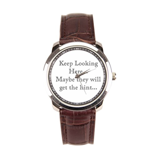 EleganceElegant Leather Band Leather Banded Watches Brown Men'sLeatherWatch