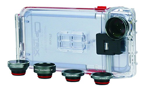 Optrix Waterproof Action Camera Case + 4 Lens Pro Kit for iPhone 6/6s Clear 9476802 [FT111206]