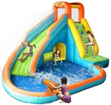 Castillo Hinchable acuatico - Water Slide With Pool and Cannon ...