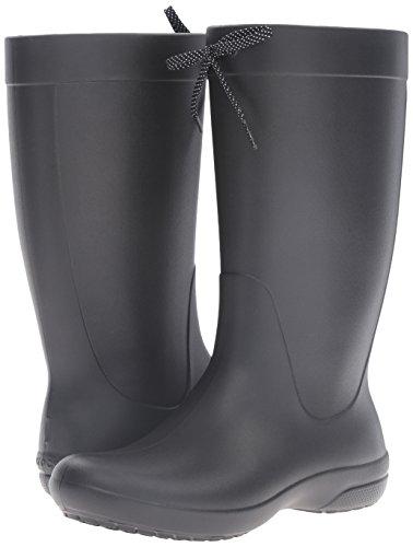 Rain Rain Donna Black Leggera Nero Crocs Freesail Freesail Boot con Stivali Imbottitura Alti Hv58qw